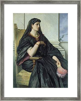 Bianca Capello, 186468 Oil On Canvas Framed Print by Anselm Feuerbach