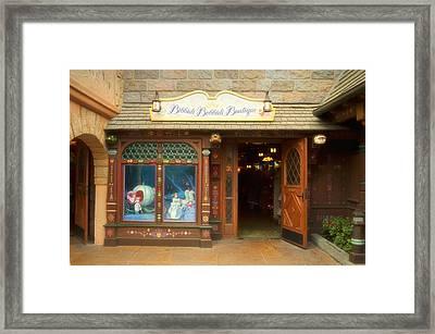 Bibbidi Bobbidi Boutique Fantasyland Disneyland Framed Print by Thomas Woolworth