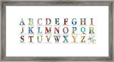 Bible Verse Alphabet Poster Framed Print by Mark Lawrence