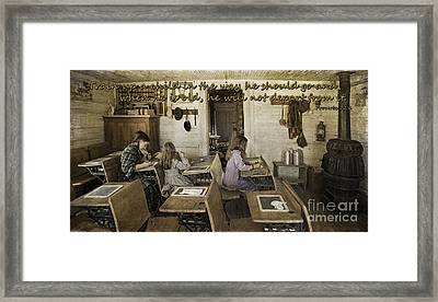 Biblical Instruction Framed Print by Priscilla Burgers