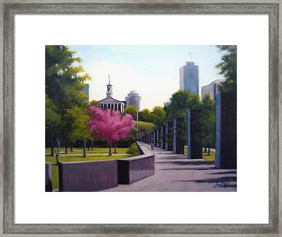 Bicentennial Capital Mall Park Framed Print by Janet King