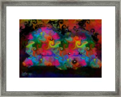 Bichons Framed Print by Marcello Cicchini