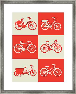 Bicycle Collection Poster 1 Framed Print by Naxart Studio