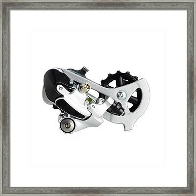 Bicycle Derailleur Framed Print by Science Photo Library