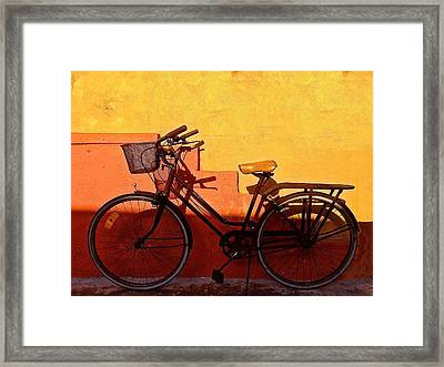 Bicycle Isla Mujeres Framed Print by Andrew Wohl