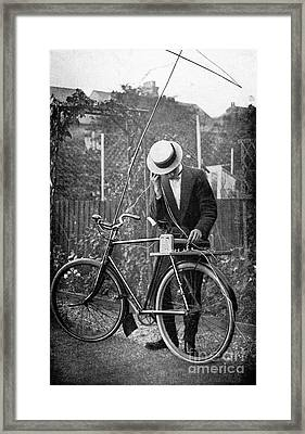 Bicycle Radio Antenna, 1914 Framed Print by Spl