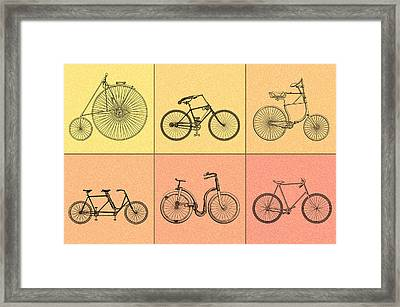 Bicycles Of The 19th Century Framed Print by Mark Rogan