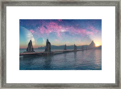 Bifrost Bridge Framed Print by Cynthia Decker