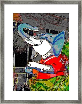 Big Al - Bama's Mascot Framed Print by Marian Bell