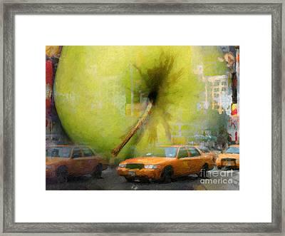 Big Apple Framed Print by Lutz Baar