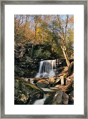 Big Autumn View At B. Reynolds Falls Framed Print by Gene Walls