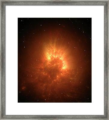 Big Bang Or Stellar Collapse Artwork Framed Print by David Parker