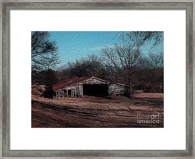 Big Barn Theory Framed Print by R McLellan