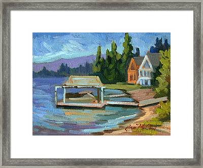 Big Bear Lake South Shore 2 Framed Print by Diane McClary