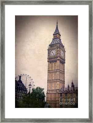 Big Ben In London Framed Print by Jill Battaglia