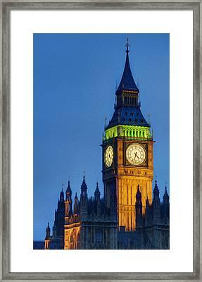 Big Ben London Digital Painting  Framed Print by Matthew Gibson
