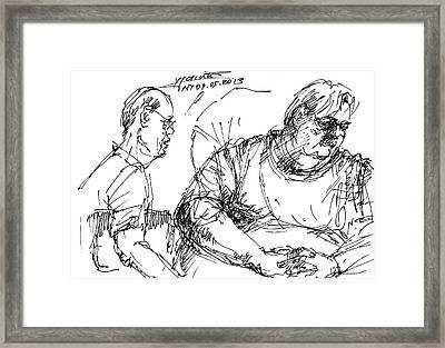 Big Billy And His Friend Framed Print by Ylli Haruni
