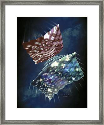 Big Bounce Universe Framed Print by Nicolle R. Fuller