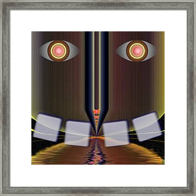 Big Brother Is Watching Framed Print by Mario Carini