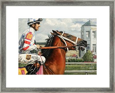 Big Brown At Churchill Framed Print by Thomas Allen Pauly