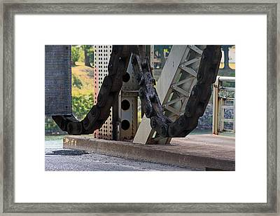 Big Chain Framed Print by Cyryn Fyrcyd