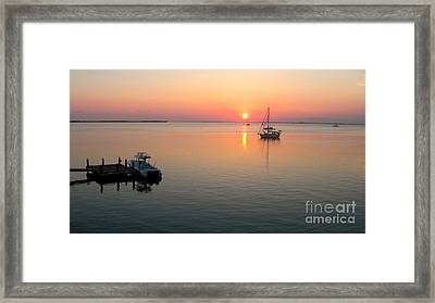 Big Chill Sunset Framed Print by Carey Chen