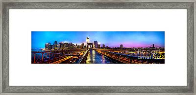 Big City Blues Framed Print by Az Jackson
