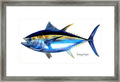 Ocean City Framed Print featuring the painting Big Eye Tuna by Carey Chen