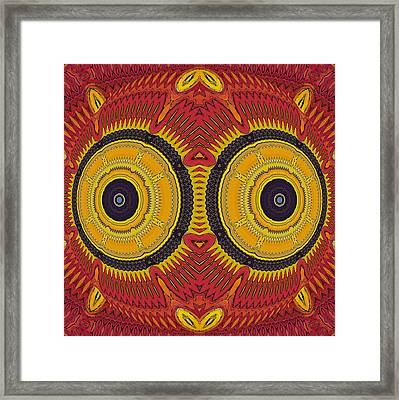 Big Eyes Owl Framed Print by Marcela Bennett