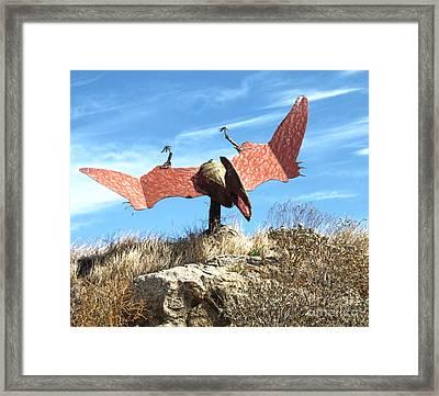 Big Fake Dinosaur Big Fake Dinosaur Framed Print by Gregory Dyer