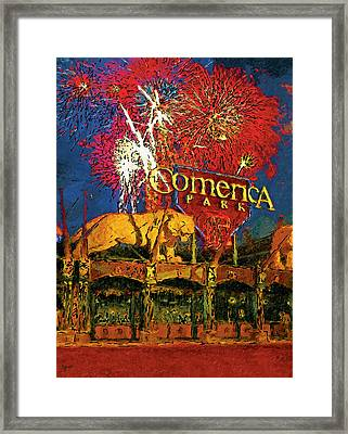 Big Fireworks Framed Print by John Farr