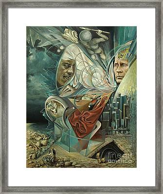Big Game Or Silence Is Gold Framed Print by Mikhail Savchenko