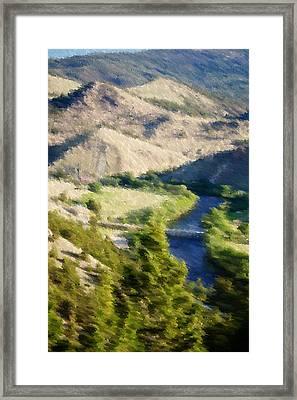 Big Hole River Divide Mt Framed Print by Kevin Bone