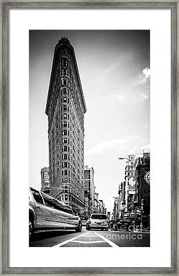 Big In The Big Apple - Bw Framed Print by Hannes Cmarits