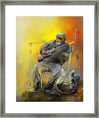 Big Jerry In Memphis Framed Print by Miki De Goodaboom