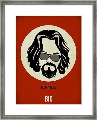 Big Lebowski Poster Framed Print by Naxart Studio