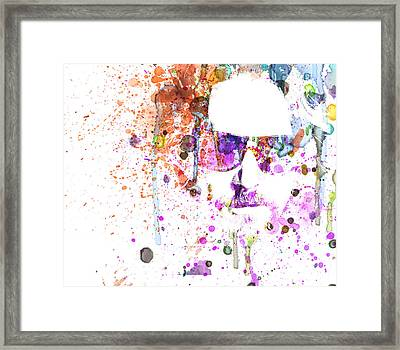 Big Lebowski Watercolor 1 Framed Print by Naxart Studio