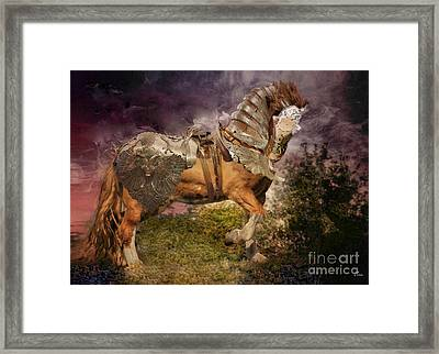 Big Max Dressed And Ready For Battle Framed Print by Wobblymol Davis