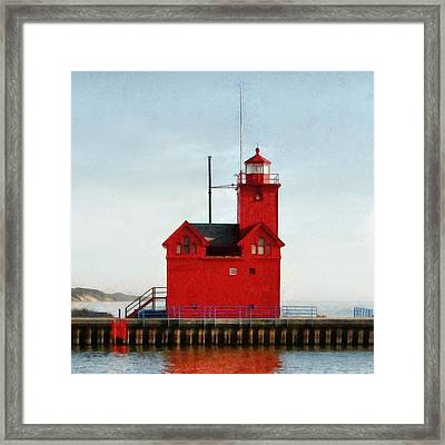 Big Red Framed Print by Michelle Calkins
