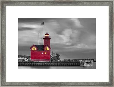 Big Red Framed Print by Twenty Two North Photography