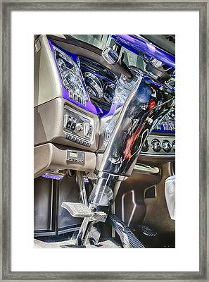 Big Rig Interior Framed Print by Theresa Tahara