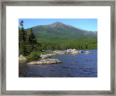 Big Rock View 3 Framed Print by Gene Cyr