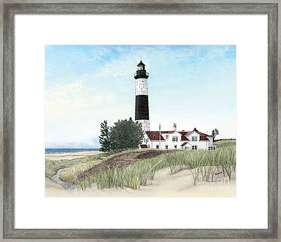 Big Sable Point Lighthouse Framed Print by Darren Kopecky