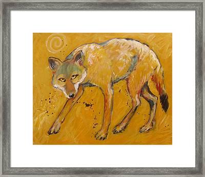 Big Sky Coyote Framed Print by Carol Suzanne Niebuhr