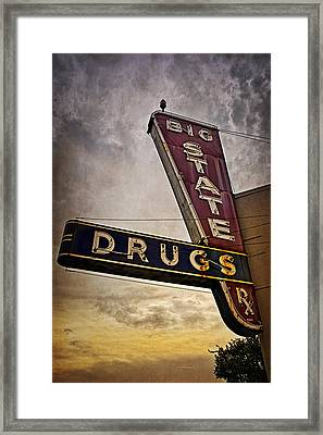 Big State Drugs Irving Framed Print by Joan Carroll
