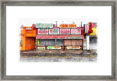 Big Steve's Italian Sausage Hampton Beach Boardwalk Framed Print by Edward Fielding