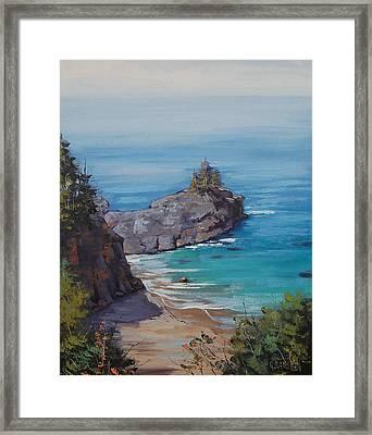 Big Sur Beach Framed Print by Graham Gercken