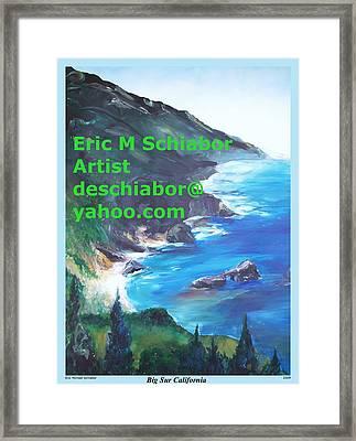 Big Sur Califorina Framed Print by Eric  Schiabor