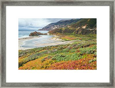 Big Sur California In Autumn Framed Print by Pierre Leclerc Photography