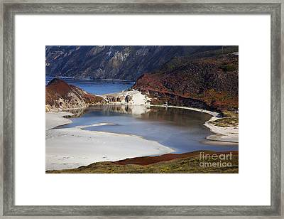 Big Sur Coastal Pond Framed Print by Jenna Szerlag